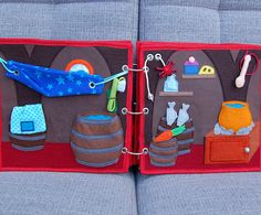 Piratebook 2 Quiet book pages Pirate ship downstairs PATTERN
