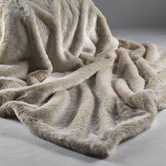 95fdec7c8e Katrina Hampton Beige Frost Faux Fur Throw UK