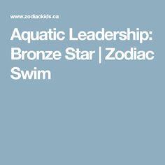 Aquatic Leadership: Bronze Star | Zodiac Swim