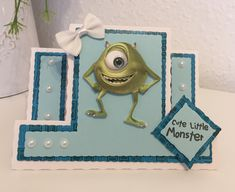 Disney Monsters, Monsters Inc, Little Monsters, Disney Cards, Lace Design, Card Ideas, Christmas Ornaments, Holiday Decor, Cute
