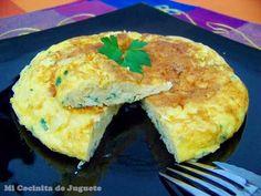 tortilla de cebolla y queso