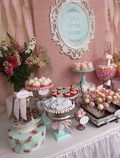 Shabby Chic Spring Floral Bridal Shower #ShabbyChicWeddingIdeas