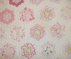 Vintage Grandma's Flower Garden Quilt