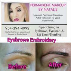 Eyebrow Embroidery at Reviva Spa and Beauty Boutique 401-333-6688.