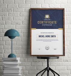 This stylish certificate design template was designed by designstore. All text and graphics in the files are editable and simple to edit. The certificate design templates were created with Adobe Illustrator in Ai format. Certificate Of Achievement Template, Certificate Design Template, Design Templates, Presentation Folder, Business Presentation, Letterhead Template, Brochure Template, Birthday Flyer, Table Etiquette