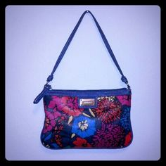 "Nine West Purse Nine West small purse. Floral design. Length 9"", height 6"". EUC!! Nine West Bags"
