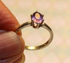 Light Amethyst & 925 Sterling Silver Ring - Size 6 #Unbranded #Cocktail #Everyday