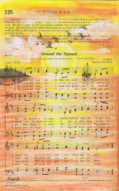 Mama Dini's Stamperia 6/20/13 post - beautiful interpretation of an old hymn as part of an altered hymnal.