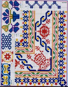 Brilliant Cross Stitch Embroidery Tips Ideas. Mesmerizing Cross Stitch Embroidery Tips Ideas. Cross Stitch Boarders, Cross Stitch Charts, Cross Stitch Designs, Cross Stitching, Cross Stitch Embroidery, Embroidery Patterns, Cross Stitch Patterns, Palestinian Embroidery, Seed Bead Patterns