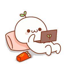 Cute Couple Cartoon, Cute Love Cartoons, Chibi Cat, Cute Chibi, Cute Love Gif, Cute Cat Gif, Kawaii Drawings, Cute Drawings, Pixel Kawaii