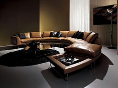 The leather sofas also comes in several different styles. And one of them is contemporary leather sofas. There are some benefits when using contemporary leather sofas. Living Furniture, Living Room Sofa, Bedroom Furniture, Sofa Design, Gebogenes Sofa, Minimalist Home Furniture, Contemporary Leather Sofa, Muebles Living, Small Room Decor