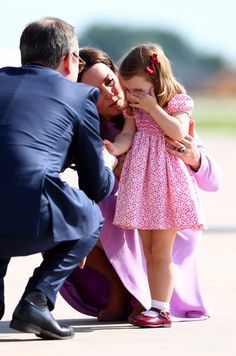 Princess Charlotte, Total Trooper, Still Manages to Shake Hands With People While Crying