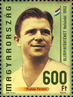 1952 Hungarian stamp featuring Ferenc Puskas.