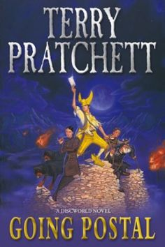 Going Postal ~ Terry Pratchett Moist von Lipwig (what a wonderful name - Moist) is the main character in this book from the Discworld series. I Love Books, Good Books, Books To Read, Fantasy Book Covers, Fantasy Books, Discworld Books, Terry Pratchett Discworld, Book Annotation, Going Postal