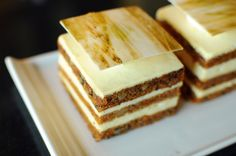 Fancy Carrot Cake Slices by Simon Sperling Gourmet Desserts, Fancy Desserts, Just Desserts, Plated Desserts, Cupcake Recipes, Cupcake Cakes, Dessert Recipes, Cupcakes, Sandwich Cake