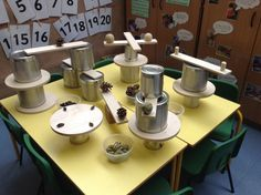 An fun activity in the maths area, making use of the natural resources. Encourages problem solving skills, working together, language, sorting, balancing, creativity  much more!