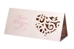 www.intricatecreations.co.uk - Amour Laser-Cut Place Card
