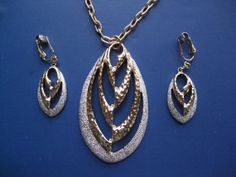 Vintage 1970s Necklace Clip On Earrings by GoodGoodyGirlsJewels, $26.00