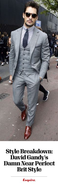 Style Breakdown: David Gandy's Damn Near Perfect Brit Style David Gandy Wore an Amazing Suit at London Collections Men – David Gandy Best Suits 2015 Mens Fashion Suits, Mens Suits, Trendy Fashion, Grey Suits, Classy Fashion, Trendy Style, Fashion Fashion, London Fashion, Fashion Styles