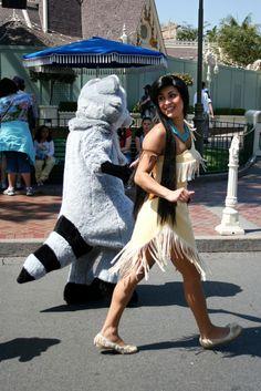 Pocahontas and Meeko, Disneyland
