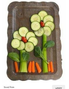 How cute are these veggie flowers!