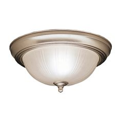 upstairs hall ceiling lights. Kichler Lighting 11.5-in W Brushed Nickel Ceiling Flush Mount Light