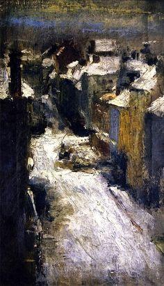 Rue de Flandre in the Snow James Ensor - 1880