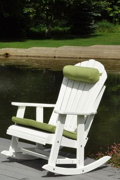 Adirondack Rocking Chair perfect by the pond. & 214 best Adirondack Chairs images on Pinterest | Adirondack chairs ...