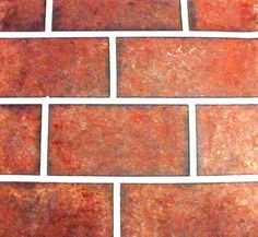 Faux Brick close-up (it's amazing what you can do with paint and the right tools and techniques)...created by Fauxkissed