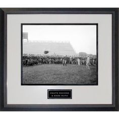Knute Rockne and Babe Ruth at Notre Dame Practice Black Rope Framed 16x20 Photo