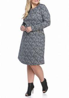 MICHAEL Michael Kors  Plus Size Paisley Print Zip Flare Dress