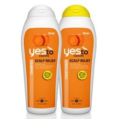 Introducing the NEW Yes To Carrots Scalp Relief Shampoo and Conditioner. Perfect for those who experience dry scalp, these pH balanced products combine Tea Tree and Lemon to protect against further irritation, while Salicylic Acid helps reduce flaking. Cypress Oils are light-moisturizing oils that won?t weigh hair down and Organic Carrots help heal dry scalp and stimulate healthy hair.