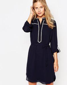Greylin | Greylin Shirt Dress with Contrast Piping at ASOS