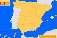 Mapas interactivos para trabajar el relieve de Espaa a travs de