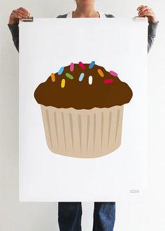 Chocolate Cupcake Print