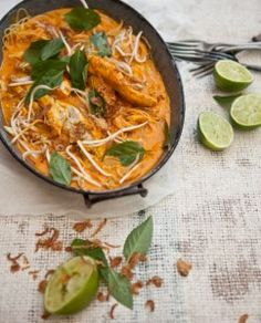 Pete Evans - Easy barbecued salmon curry, Amiee's quick laksa and Indian-spiced barbecue fish in banana leaves Coconut Recipes, Paleo Recipes, Real Food Recipes, Cooking Recipes, Paleo Meals, Savoury Recipes, Paleo Food, Chef Recipes, Healthy Meals