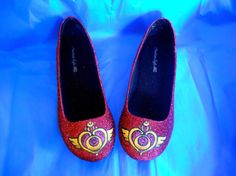 Sailor Moon Glitter Shoes by aishavoya on Etsy, $95.00