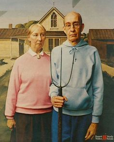 Still American Gothic | 36 Pop Cultural Reinventions Of The American Gothic Painting