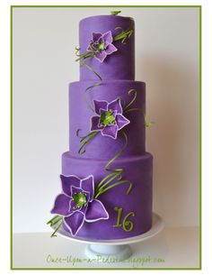 Happy Sweet 16. I've always loves purple and green together. I think it's because of the Joker from Batman. :)