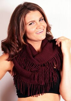 Ribbed Fringe Scarf FSU garnet scarf