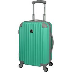 Travelers Club Luggage Modern 20 Inch Hardside Expandable CarryOn Spinner Turquoise One Size * Learn more by visiting the image link.