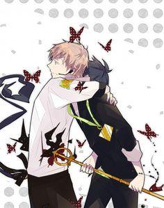 Ao no Exorcist (Blue Exorcist) Image - Zerochan Anime Image Board Ao No Exorcist, Blue Exorcist Anime, Rin Okumura, Superfamily Avengers, Blue Flames, Shounen Ai, Fujoshi, Manga, Anime Guys