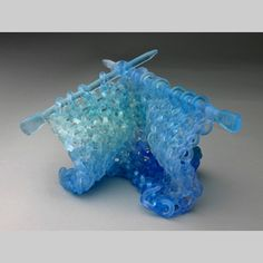 Knitting & Knitted - Knitted Glass Kiln-Cast lead crystal knitted glass