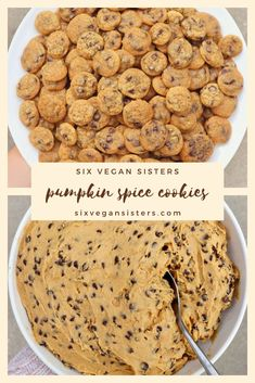 Bite-Sized Pumpkin Spice Cookies It's fall which means everything pumpkin, so go ahead and make Vegan Dessert Recipes, Just Desserts, Baking Recipes, Cookie Recipes, Delicious Desserts, Yummy Food, Health Desserts, Protein Recipes, Protein Foods