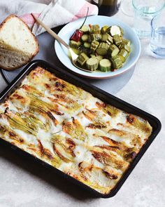 Basil and Ricotta Cannelloni | Martha Stewart Living - In Rome, fresh ricotta made from sheep's milk is more widely available than that made from cow's milk, but either will work in this recipe. An abundance of zucchini blossoms (fiori di zucche) made it easy for Kovel to use them as a topping, but if you can't find them, it's not a problem; they are an optional flourish here.