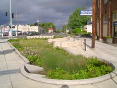 rain garden | Green Street Rain Garden - Photo Courtesy of Portland Environmental ...