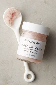 French Girl Organics Rose Lip Polish by: French Girl Organics (US) Skin Care Regimen, Skin Care Tips, Vaseline Beauty Tips, French Beauty Secrets, Coconut Oil Beauty, French Skincare, Ingrown Hair, Beauty Routines, Skincare Routine