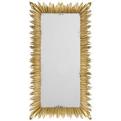 Jonathan Charles Floor Standing Rectangular Sunburst Mirror