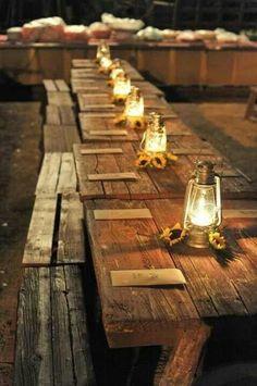 Rustic Outdoor Wedding   Outdoor wedding, fun rustic feel lynnie!   Wedding Ideas :)