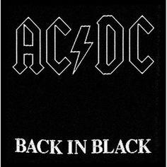 AC/DC Sew-on Patch: Back in Black Ref:SP1512